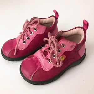 Girls Ecco Pink Leather Boots 3 - 3.5
